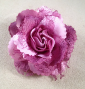 Mini Lacy Rose Artificial Flower Hair Clip/Pin Brooch