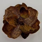 Glittered Velvet Jumbo Magnolia Artificial Flower Hair Clip/Pin Brooch