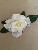 Laced Kitty Rose Artificial Flower Hair Clip/Pin Brooch