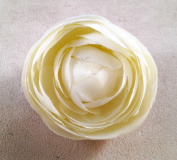 New Small Ranunculus Artificial Flower Hair Clip/Pin Brooch