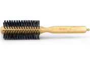 Dianyi Wood Handle Professional Pro Hair Brush With Pin Tail Dual Purpose, Round, Boar Bristle/Nylon
