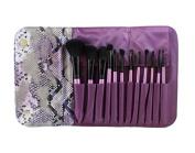 Morphe Brushes 12 Piece Purple SET w/ Snakeskin Case - SET 693