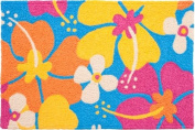 Groovy Hibiscus Flowers Jellybean Accent Area Rug