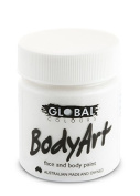 Global Body Art Face Paint - Liquid White 45ml