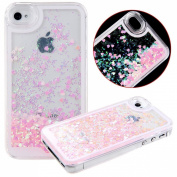 Beauty Case for iPhone 6 Plus,Cover for iPhone 6 Plus,Back Beauty Case for iPhone 6 Plus with 14cm Screen,Transparent Hard Beauty Case for iPhone 6 Plus,Mybase Creative Design Flowing Liquid Floating Luxury Bling Glitter Sparkle Stars Hard Beauty Ca ..