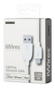 iWires USB 2.0 Plug to Lightning Plug - White