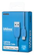 iWires USB 2.0 Plug to Lightning Plug - Blue