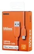 iWires USB 2.0 Plug to Lightning Plug - Orange