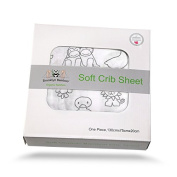 Brooklyn Bamboo Softest Organic Bamboo Fitted Crib Sheet Hypoallergenic, Breathable & Cutest Of All Crib Sheets Unisex, Boy Or Girl Perfect For Baby Registry And Gift Basket Sets