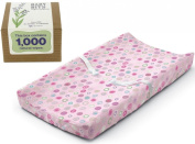 Summer Infant Ultra Plush Change Pad with Baby Wipes Solution, Pink Swirl