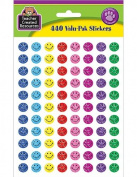 Teacher Created Resources Mini Happy Face Sparkle Stickers Valu-Pak, Multi Colour
