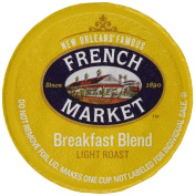 FRENCH MARKET Coffee Single Serve Cups, Breakfast Blend, 12 Count