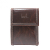 Boshiho® Hasp Man-made Leather Brass Button and Card Holder Trifold Wallet