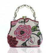 Floral Beaded Women's Vintage Luxury Printing Beaded Women Handbag Evening Party Bag Holiday Birthday Gift