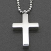 Four Pack of Cremation Ashes Funeral Urn Cross Necklace Stainless Steel Pendants Jewellery