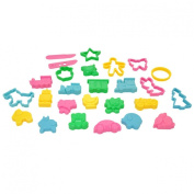 Dough Cutters -- Kids Cookie Cutters -- Play doh Clay Cutters Animals and Objects Shapes -- Assorted Colours 26 pcs -- Yazycraft