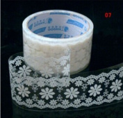 vanki Craft adhesive tape- White Lace Transparent Deco Tape Sticker Tape