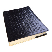 Genuine Leather Embossed Journal / Notebook - Travel Diary - Black by Sitara Collections®