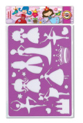 KOH-I-NOOR Drawing Template Crown Princess - Transparent Purple