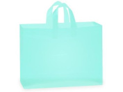"Frosted Plastic Shopping Gift Bags Large (41cm x 15cm x 12"")- Quantity of 100"
