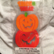 Stacked Pumpkins Cello Treat Bags (20) with Ties