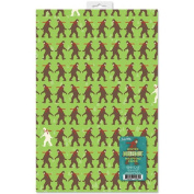 Winter Bigfoot Wrapping Paper