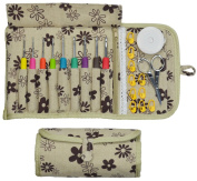Crochet Hook Set - Kit has Ergonomic Crocheting Needles labelled with US and Metric sizes - Cloth Case - Zipper Pocket - Scissors and Supplies - Haven for Hands Crochet Hooks - Create with Yarn Today!