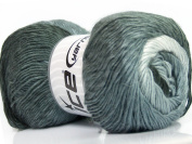 Lot of 4 x 100gr Skeins ICE YARNS Primadonna Grey Shades