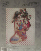 Something Special Wise Men CHRISTMAS Stocking Counted Cross-Stitch Kit - 30cm x 43cm #50592