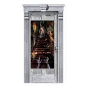 Amscan Haunted House Stairway Scene Setter Door Decoration
