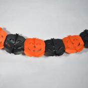 Quasimoon Black and Orange Pumpkin Halloween Garland Banner (2.7m) by PaperLanternStore