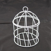 Mini Metal Wire Bird Cage, 10cm , White
