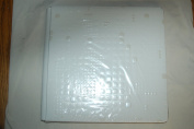 Creative Memories Whire 12x12 Album with decorative embossed squares