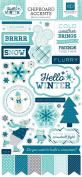 Echo Park Paper Company Hello Winter Chipboard, 15cm x 33cm