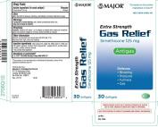 Major Extra Strength Gas Relief, 30 Softgels Per Box