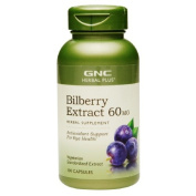 GNC Herbal Plus Bilberry Extract 60mg, Capsules, 100 ea