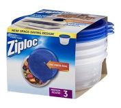 Ziploc Container Med Round 3Ct