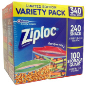 Ziploc 340 Storage Bags - Limited Edition Variety Pack