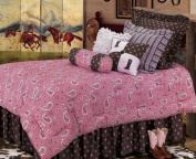 HiEnd Accents Pink Paisley Bedding Set, Full by HomeMax Imports