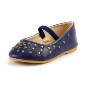 Girl's Stylish Flat Shoes with Studs Elastic Strap 3 Colours Toddler -Youth Size