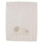 Living Textiles Organic Elephant Applique Coverlet Quilt