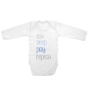 Long Sleeve Baby Tee Time Baby Boys' Eat Sleep Play Repeat One piece