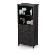 South Shore Little Smileys Shelving Unit with Drawers, Grey Oak
