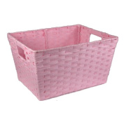 Small Rectangular Paper Fibre with In-Handle Basket - Pink