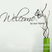 MLMSZ welcome to our home and butterfly Wall sticker Home decal decor quotes saying Art Decal