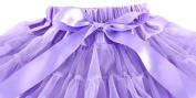 Wennikids Girl's Tutu Chiffon Petticoat Pettiskirt Set with Flower Hair band