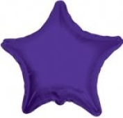 Solid Colour Star Shaped 46cm Mylar Balloons in Bulk (100 Count Pack)