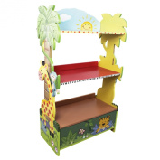 Fantasy Fields by Teamson Sunny Safari Childrens Wooden Bookcase Storage Kids Bookshelf KYW-8268A