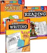 180 Days of Reading, Writing and Math for Third Grade 3-Book Set