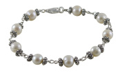 Exquisite Station Style Cultured Fresh Water Pearl Bracelet, Sterling Silver